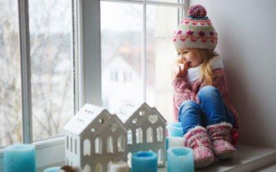 Mantén tus ventanas selladas contra el frío